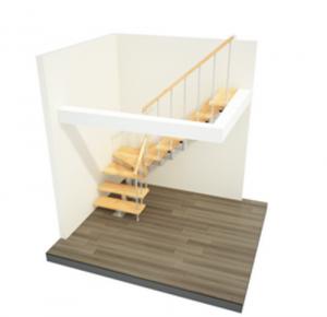 модульная лестница г-образная