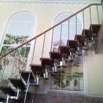лестница покрытие хром