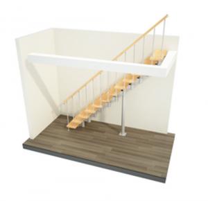 модульная лестница прямой марш